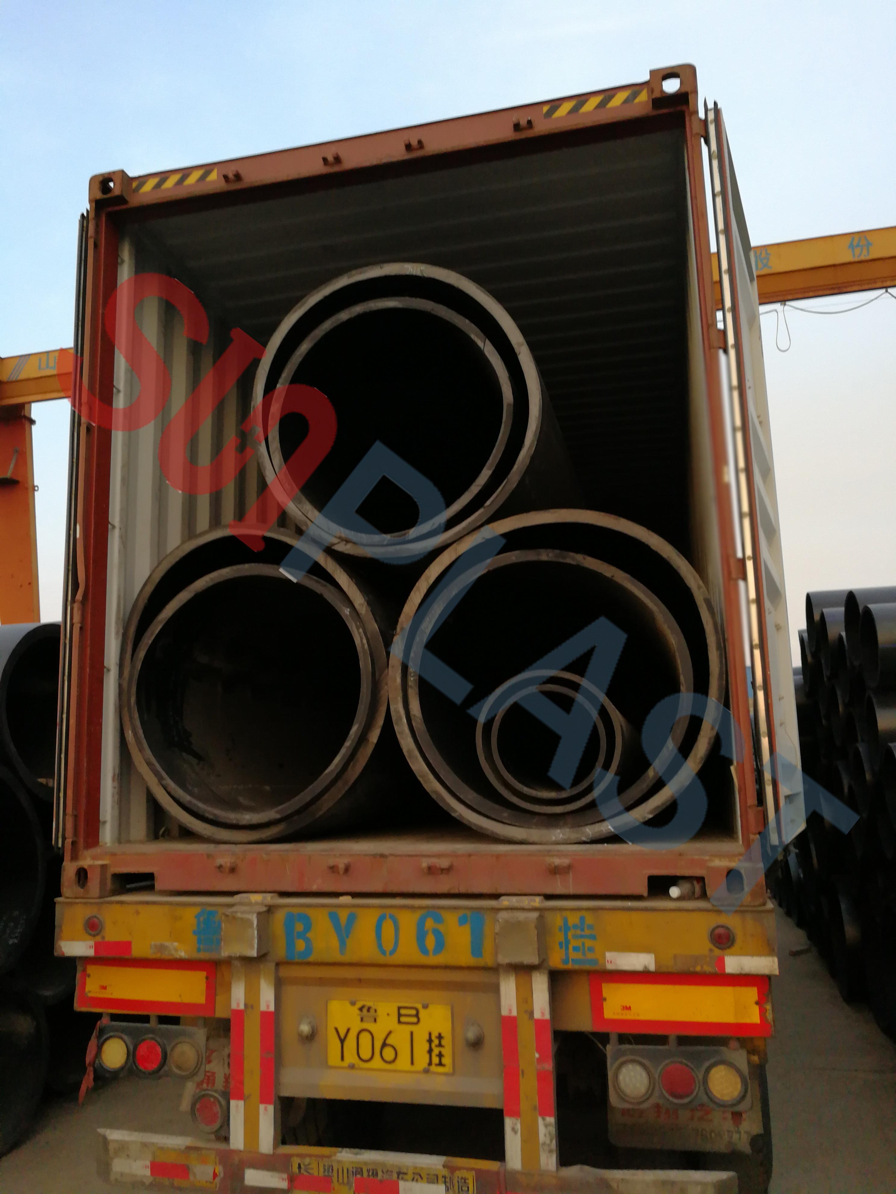 SUNPLAST DN1000 / DN1200mm HDPE тръба към Австралия